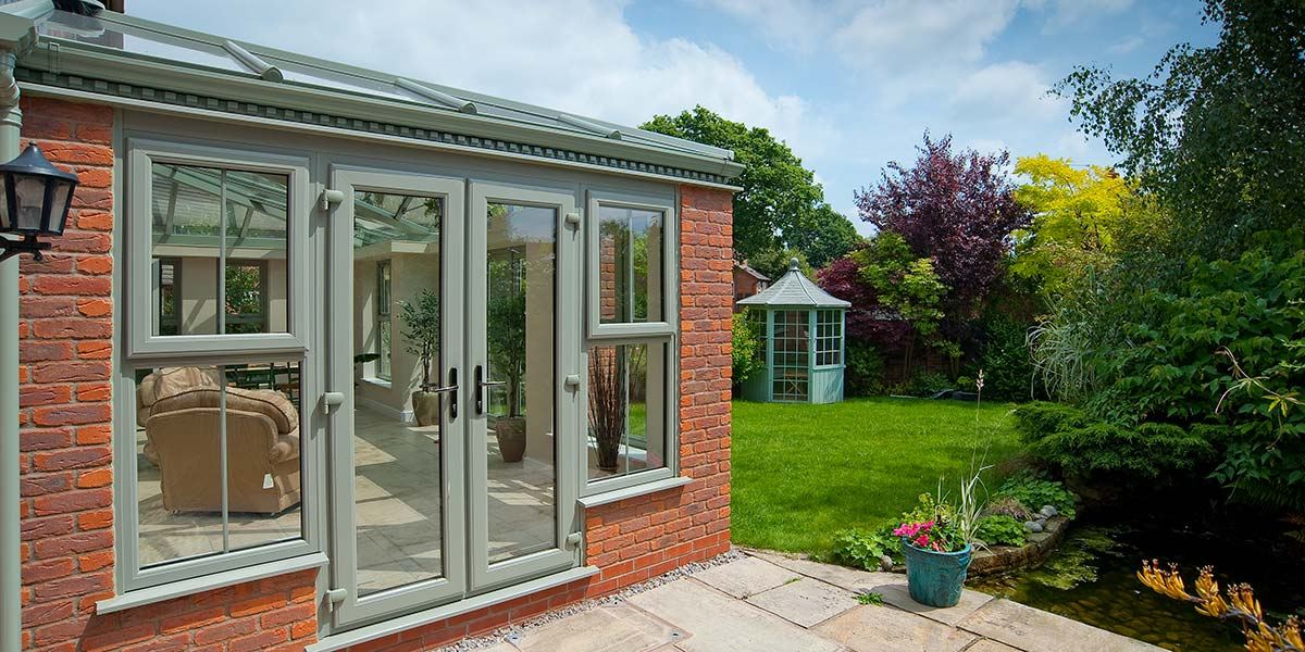 Bespoke Orangery With Chartwell Green Windows Amp French